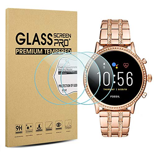 Suoman 3-Pack for Fossil Gen 5 Julianna HR Screen Protector Tempered Glass...