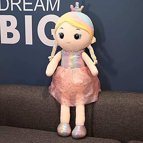 MFX Rainbow Princess Felpa Doll Soft Filler Doll with Dress Felpa Doll Trap Doll Children 's 35cm