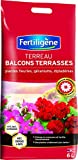 Fertiligène Terreau Balcons Terrasses Plantes Fleuries, 6L