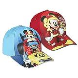 Mickey Roadster S0717100 Hat, Rojo, Talla única Unisex-Child