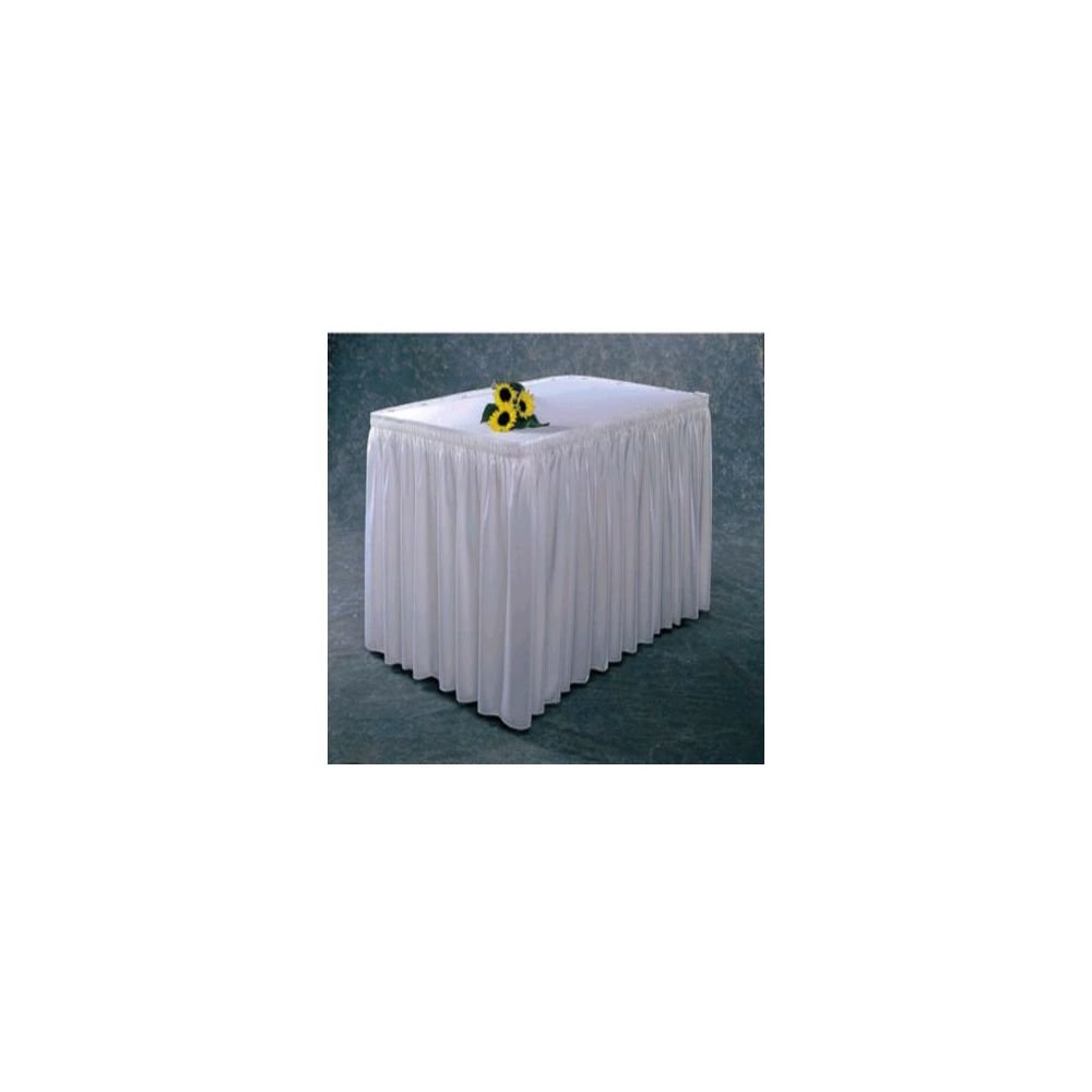 Snap Max 86% OFF Drape #100-I WHT Wyndham Shirred Skirt Ranking TOP18 Ft. Pleat 17.5 Table
