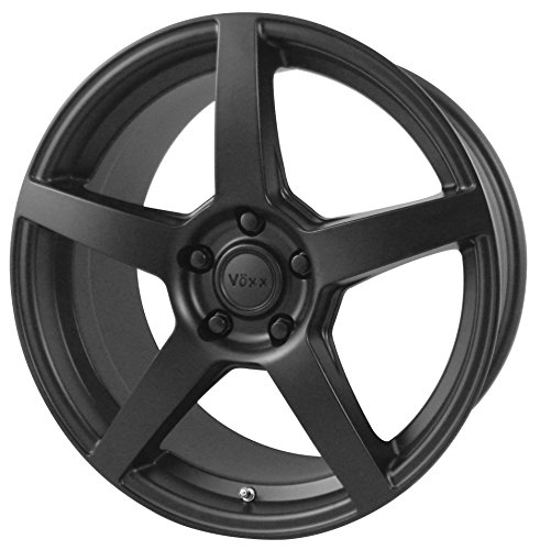 Vöxx MGA Matte Black Wheel with Painted (18 x 8. inches /5 x 115 mm, 20 mm Offset)