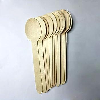 Birchwood Lot de 200 petites cuill/ères /à yaourt jetables en bois