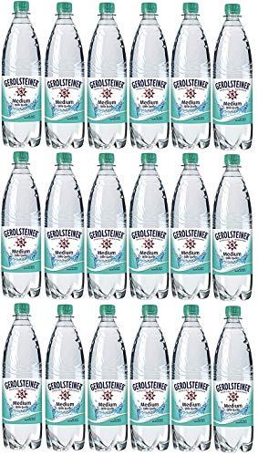 18 Flaschen Gerolsteiner Quelle Medium Sprudel Mineralwasser a 1000ml in PET inc. 2.70€ Mehrweg Flasche