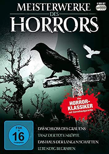 VIER HORROR-KLASSIKER : Das Schloss des Grauens / Tanz der Totenköpfe / Das Haus der langen Schatten / Lebendig begraben [4 DVD-Box]