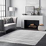 nuLOOM Tristan Contemporary Area Rug, 4' x 6', Grey
