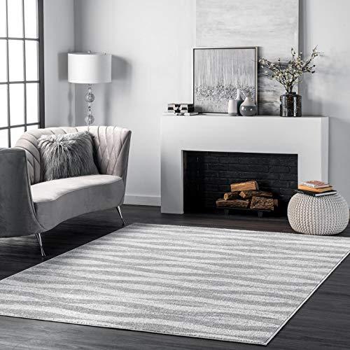 nuLOOM Tristan Contemporary Area Rug, 5' x 8', Grey
