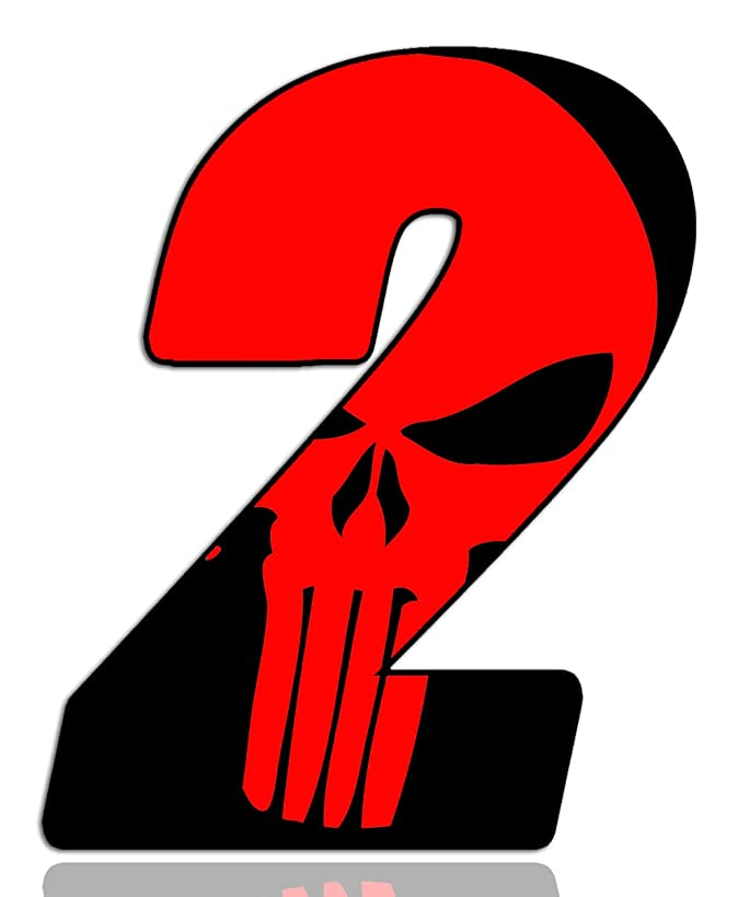 Stickers Number Vinyl Punisher Red Auto Moto Motocross Motosport Start Racing Numbers Rally Race Car Bike Motorcycle Cool Tuning N 352