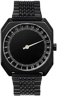 slow Jo 03 - Swiss Made one-hand 24 hour watch - Black steel