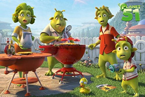 1art1 Planet 51 Poster - BBQ (36 x 24 inches)