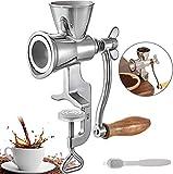 WYJZHEN Molinillo de café Manual Acero Inoxidable Molinillo de café Manual Diseño de Abrazadera de encimera Tostador de café Manual Mango de Madera Molinillo de Grano Manivela