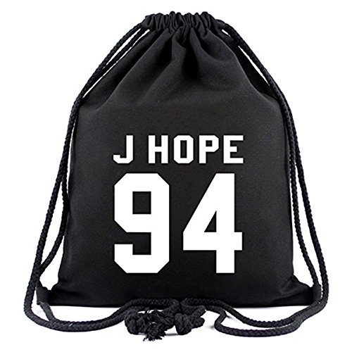Meridiaga Kpop BTS Bangtan Boys Drawstring Bags New BTS Rucksack Schultertasche (J-HOPE 94, Onesize)