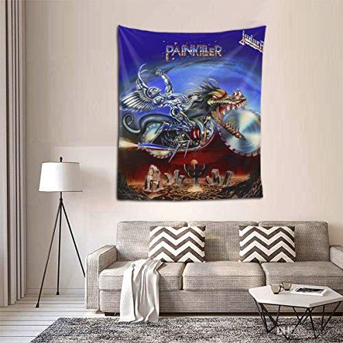 N\A Judas Priest Painkiller Band Tapiz Colgante de Pared Tapiz Colorido Pared Decoración del hogar Dormitorio Sala de Estar Colegio Dormitorio Decoración.