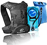 InnerFit Insulated Hydration Backpack and Water Bladder, Durable Camel Backpack Hydration Pack - Running, Hiking, Biking and Outdoor Activities - Lightweight Water Backpack - Black