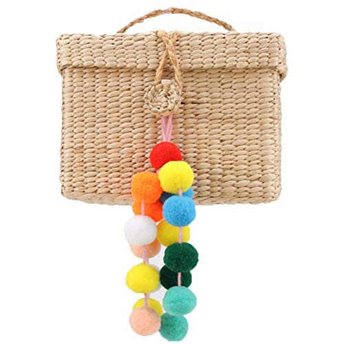 WANGWL 1pc Pompon Keychains Frauen Bag Charms Pompons Keyring Bunte Charms Handgemachten Schmuck