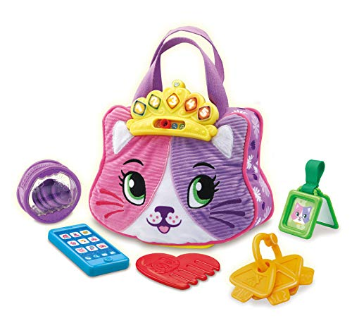LeapFrog Purrfect Counting Handbag, Baby Interactive Toy for Pretend Play, Musical Toy with Colours and Phrases, Cute Cat Purse with Baby Accessories and Baby Teether, Suitable for 6 Months +