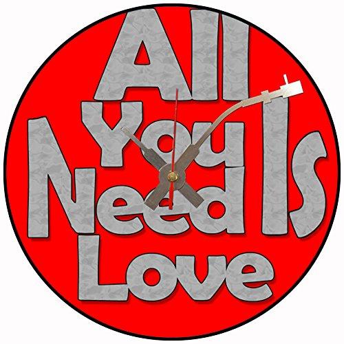 Iconic All you Need Is Love - Reloj de pared de vinilo (Beatles)