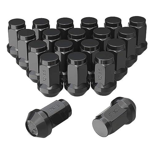 1//2-Inch Set of 4 20 Thread Size McGard 64030 Chrome//Black Cone Seat Style Lug Nut Set