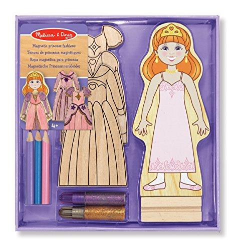 Melissa & Doug - Dekoration aus Holz Prinzessin Magneten