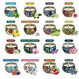 Velas, Velas de aromaterapia 16pcs Jamón de Soja Cera Vegetal Aceite Esencial Vela Set