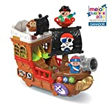 VTech-80-177822 Barco Pirata, cazatesoros transformable en Isla, SPB, Color Verde (80-177877)