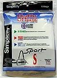 Simplicity Vacuum Bags SS-6 Type S, Sport 6 bags