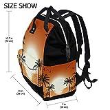Sunset - Bolsa de pañales para mamá, papá, mochila de viaje, escolar, niño, niña, gran capacidad, para mamá, hombres, mujeres