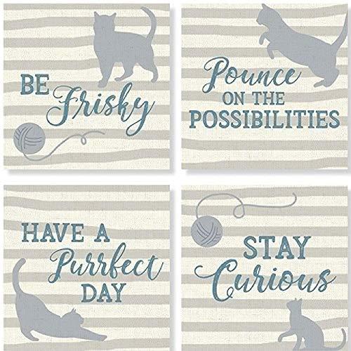 Carson Untersetzer, Motiv Katze, quadratisch, 4 Stück