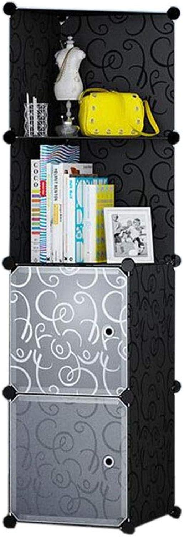 JCAFA Shelves Bookcase Cube Storage Box DIY Assembly Corner Cabinet Modular Bookshelf Storage Shelf, Bedroom Living Room Office (color   A, Size   15.35  14.56  57.87in)