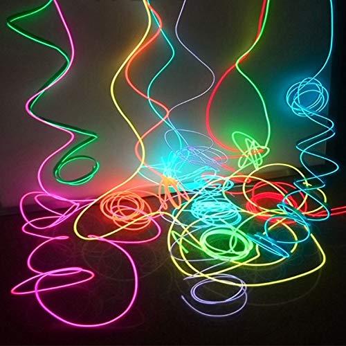 XJJZS 1M / 2M Neon Dance Party Luz Decoración de neón del LED de la lámpara Flexible del EL Alambre Tubo de la Cuerda Tira de LED Impermeable (Color : Red, Size : 1m)