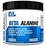 Evlution Nutrition Beta-Alanine, 1.6g of Ultra Pure Beta Alanine in Each Serving, Athletic Endurance & Recovery, CarnoSyn, Gluten-Free, Non-GMO, Unflavored Powder (125 Servings)
