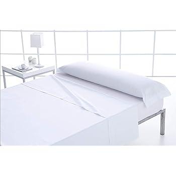 ForenTex - Juego de sábanas, (S-Blanco), 100% algodón, Blancas, Cama de 90 cm, Pieles sensibles, lo Natural y ecológico es Siempre un acierto, 144 Hilos: Amazon.es: Hogar