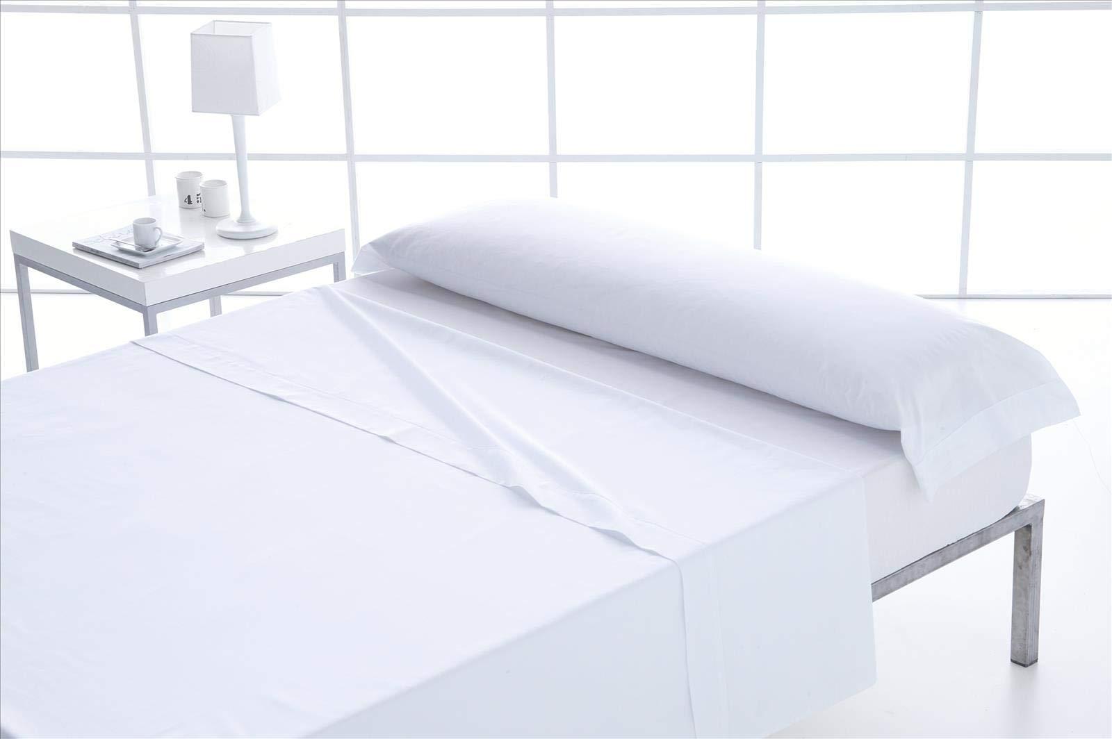 ForenTex - Juego de sábanas, (M-Blanco), 100% algodón, Blancas ...
