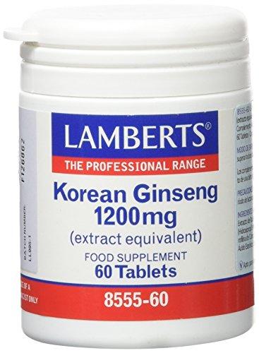 Lamberts Ginseng Coreano 1200Mg, 60 Tabletas