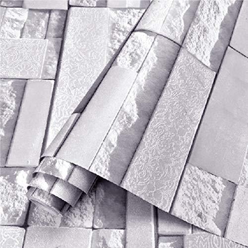 Kitchen-dream Wandaufkleber Ziegelstein, 0.45x10M PVC wasserdichte selbstklebende Backstein-Wand-Aufkleber,feuchtigkeitsbeständige Tapete Badezimmer Küche DIY Ausgangskunst-Raum verzieren