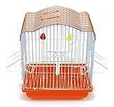 BPS Jaula Pájaros Metal con Comedero Bebedero Columpio Saltador Cubeta Color envia al Azar 22.5 x 17 x 28 cm BPS-1209