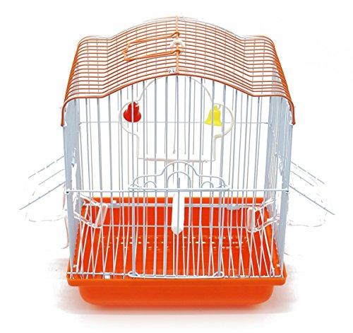 BPS BPS-1209 Cage à oiseaux en métal avec mangeoire en forme de corbeille à sauter Couleur aléatoire 22,5 x 17 x 28 cm