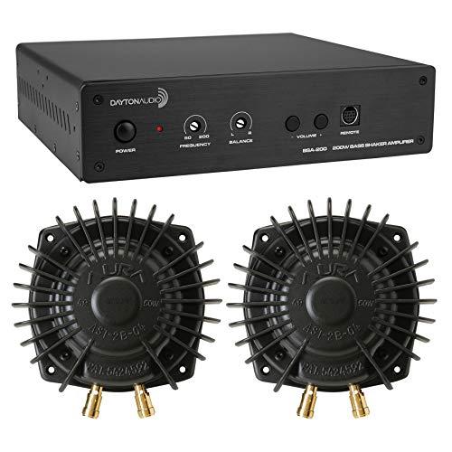 Dayton Audio BSA-200 Amp with 2 Aura Pro Bass Shakers Bundle