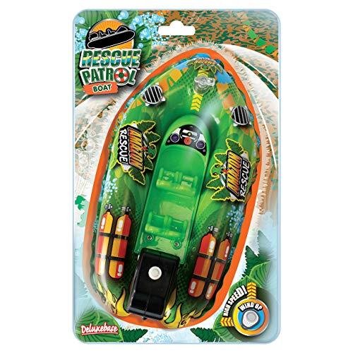 Bote patrulla del rescate del Amazonas. Enrolle para arriba el juguete del baño de Deluxebase. El barco de la diversión con un fácil de utilizar enrolla para arriba el motor. Grande para los niños rie