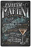 OSONA Cocktail Espresso Martini Retro Nostalgic Art Traditional Rust Color Tin Logo Advertising Striking Wall Decoration Gift