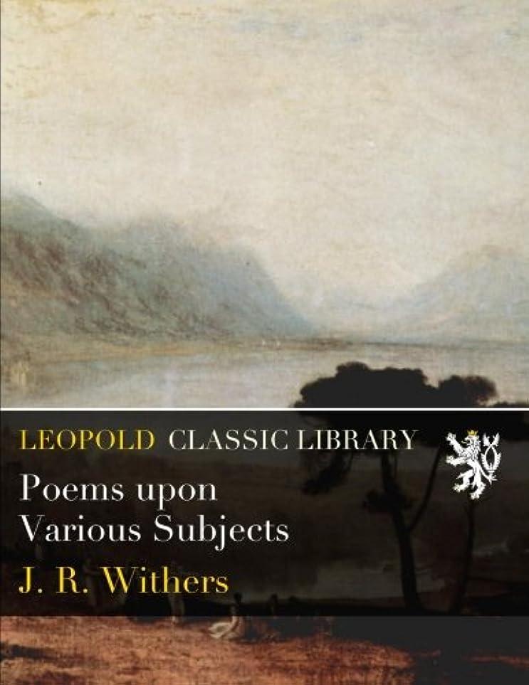 調停する平均アラブ人Poems upon Various Subjects