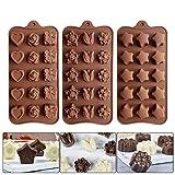 Stampi per Cioccolatini in Silicone, Stampi Silicone per Caramelle e Cioccolato di Alta Qualità Senza BPA Cioccolato Silicone Moulds DIY Candy Stampin per Decorazioni di Torte per Varie Forme a Tema