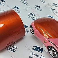 <3M>ラップフィルムシリーズ グロスメタリック フェアリーオレンジ 1080-G364 当店規格品 297mm×210mm A4サイズ【1枚】
