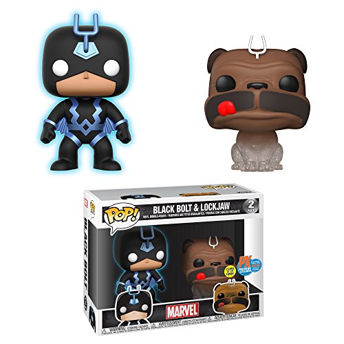 Funko POP! Marvel Inhumanos: Lockjaw + Black Bolt Exclusivo