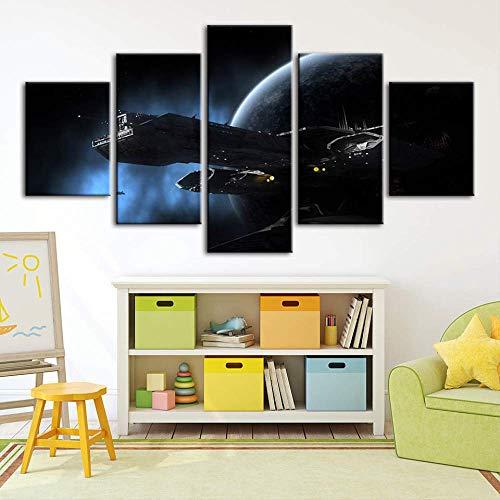HY.Bohu DECORAZIONE MURALE Tela Stampe HD Immagini Wall Art Stargate Astronave Pittura Pianeta Paesaggio Decorazioni per la casa Poster modulare Soggiorno Quadro