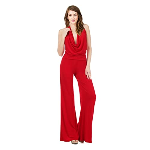 f7c0150d9629 Tabeez Women s Off-Shoulder Multiway Jersey Draped Long Jumpsuit