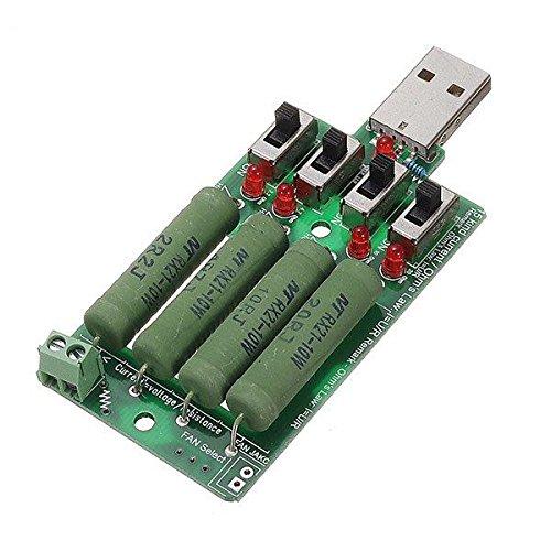 DL01 5pcs 10W 4 Switch USB Envejecimiento Descarga Cargador 15 Genial Stream Test Resistencia de carga Compatible QC2.0 Prueba QC3.0 para Power Bank Cargador de teléfono móvil USB Power CH0405