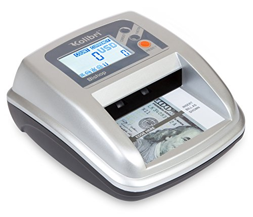 Kolibri Bishop Counterfeit Money Detector with Advanced Ultraviolet, Magnetic and Infrared Detection, Large LCD Screen, Easy to Use, Compact and Lightweight