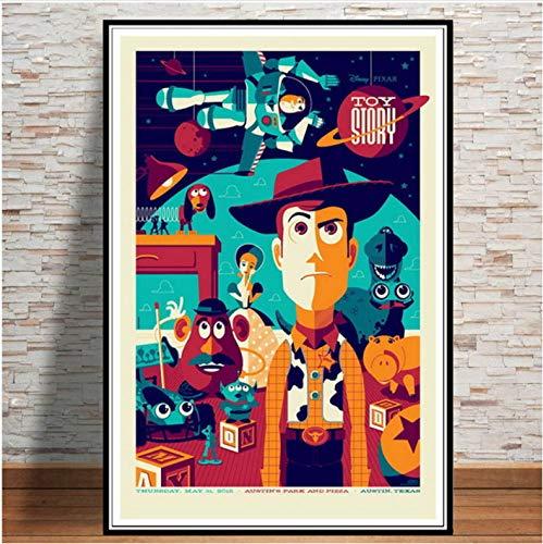 mohanshop Pintura Sin Marco Arte De Pared Toy Story 4 2019 Película Película Cartel Imagen Impresiones Lienzo Pintura para Habitación Decoración del Hogar A364 (40X60Cm) Sin Marco