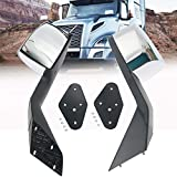 TOYO-INTL Hood Mirror Pair Set, Driver and Passenger Sides Hood Mirror Chrome, Fit for 2004-2017 Volvo VNL with Mounting Kit, V-012B, 82361058